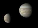 Jupiter, Europa and Io